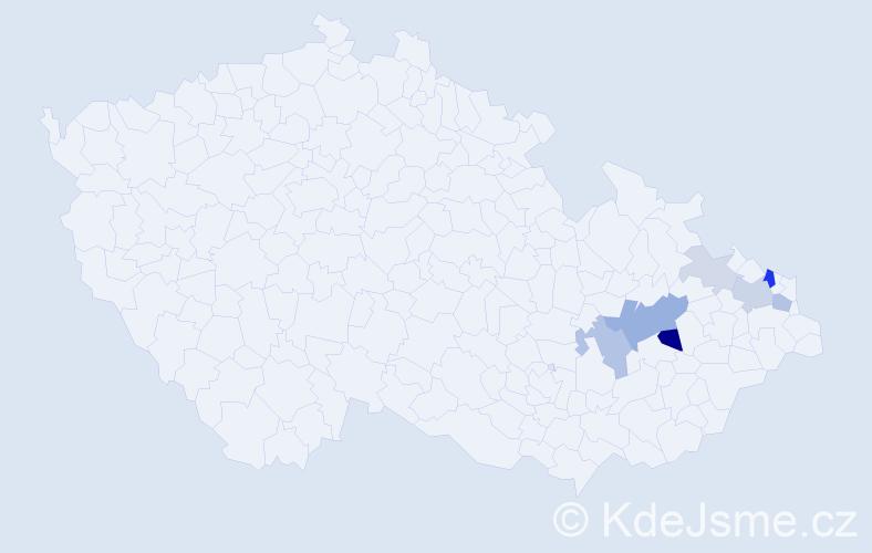 Příjmení: 'Abendroth', počet výskytů 19 v celé ČR