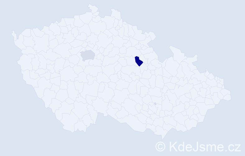 Příjmení: 'Hamdan', počet výskytů 3 v celé ČR