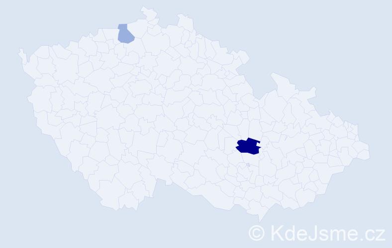 Příjmení: 'Ifeonu', počet výskytů 4 v celé ČR