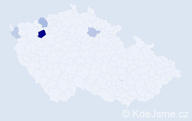 Příjmení: 'Dmitrenko', počet výskytů 7 v celé ČR