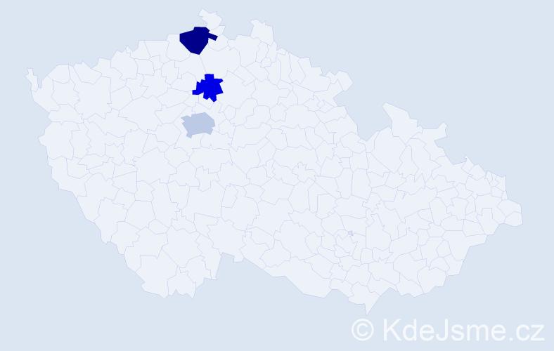 Příjmení: 'Čelobentič', počet výskytů 5 v celé ČR