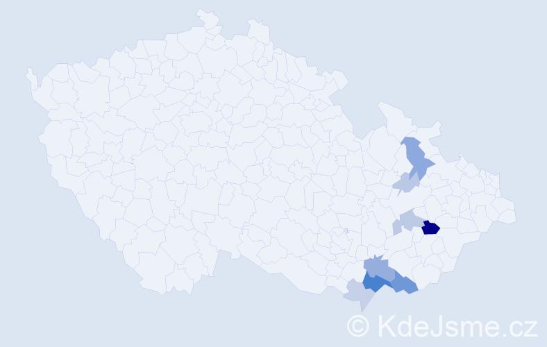 Příjmení: 'Hačundová', počet výskytů 36 v celé ČR