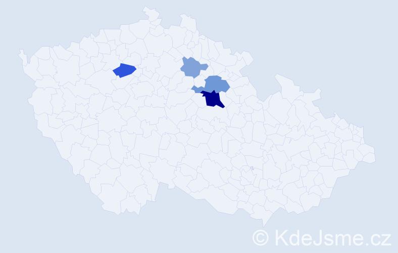 Příjmení: 'Cihlo', počet výskytů 14 v celé ČR