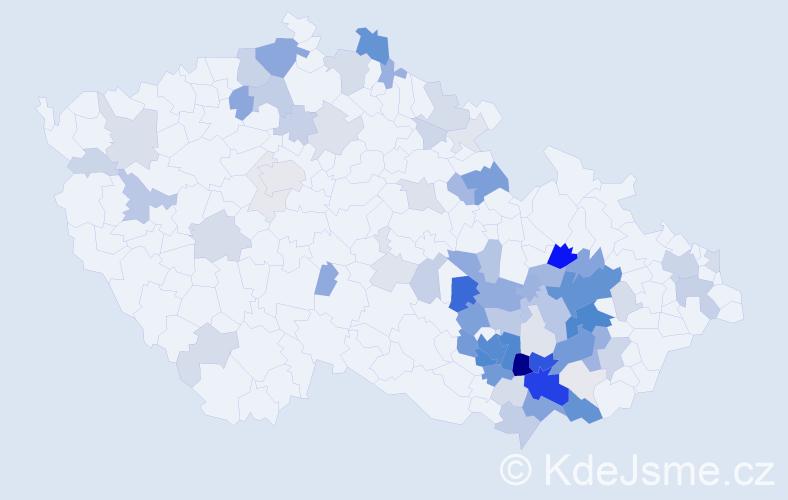 Příjmení: 'Hofírek', počet výskytů 319 v celé ČR