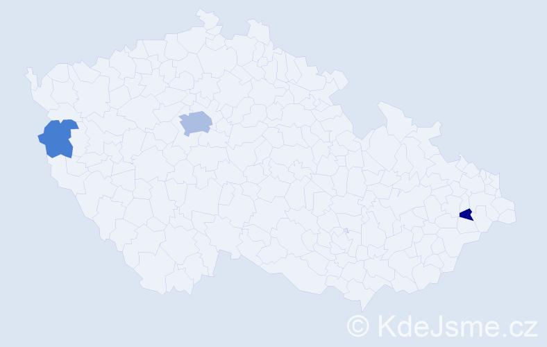 Příjmení: 'Holloway', počet výskytů 7 v celé ČR
