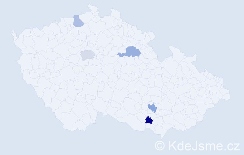 Příjmení: 'Bechtold', počet výskytů 21 v celé ČR