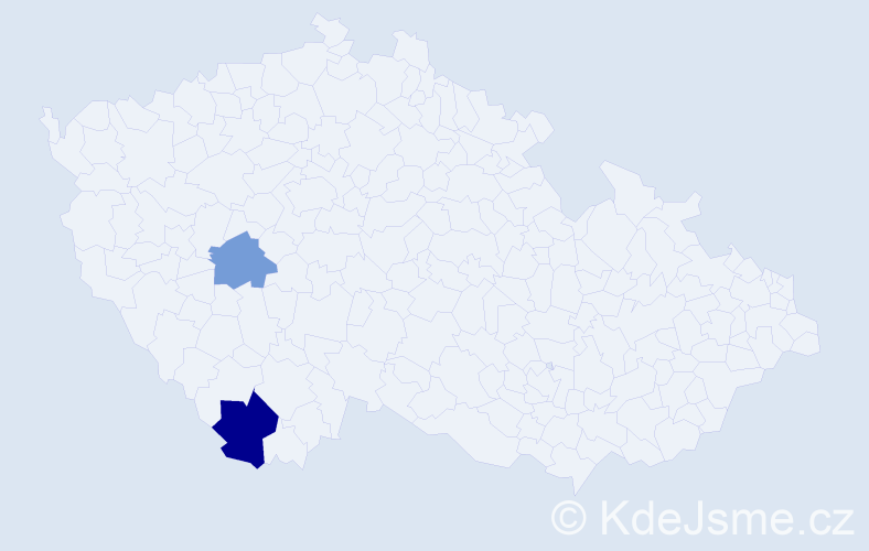 Příjmení: 'Bachcevanidis', počet výskytů 3 v celé ČR