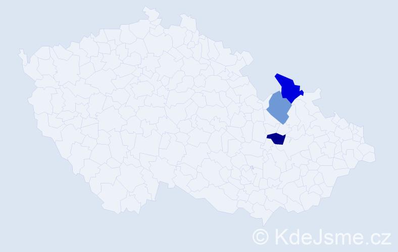 Příjmení: 'Čiscoňová', počet výskytů 7 v celé ČR