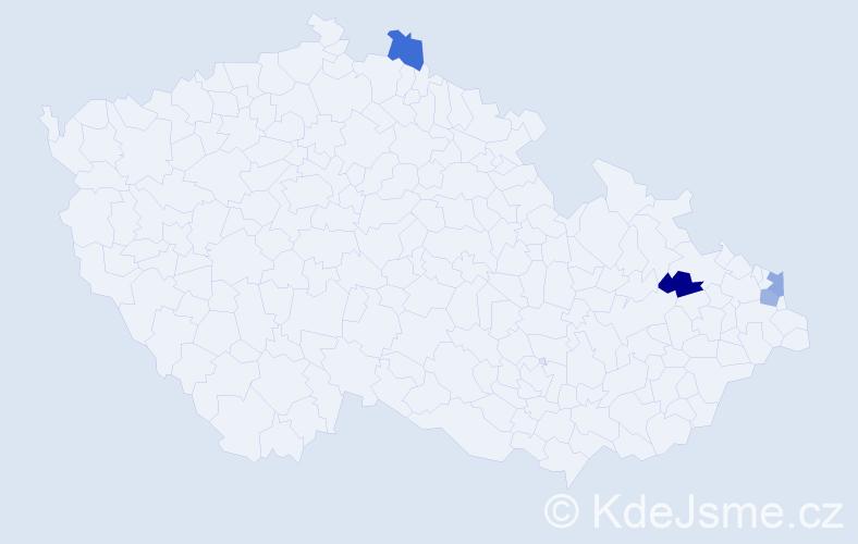 Příjmení: 'Latušinský', počet výskytů 4 v celé ČR