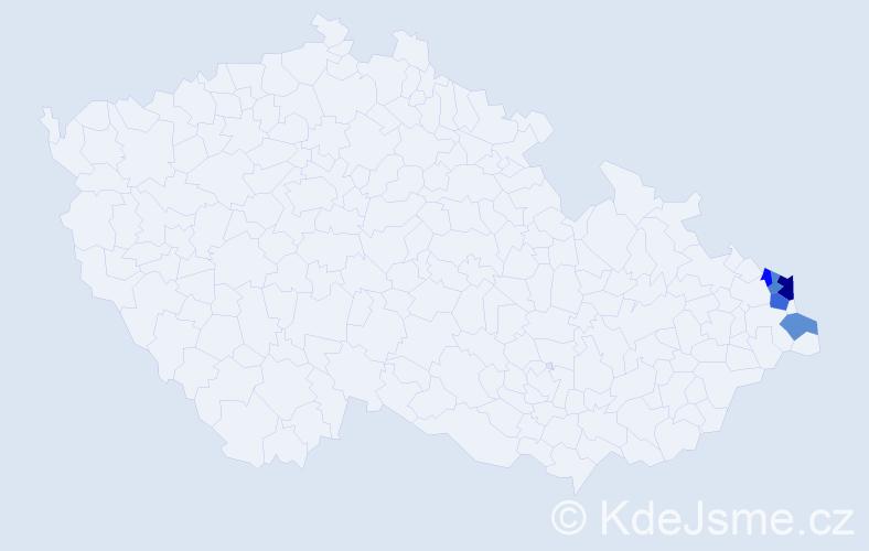 Příjmení: 'Ganczarczyková', počet výskytů 8 v celé ČR