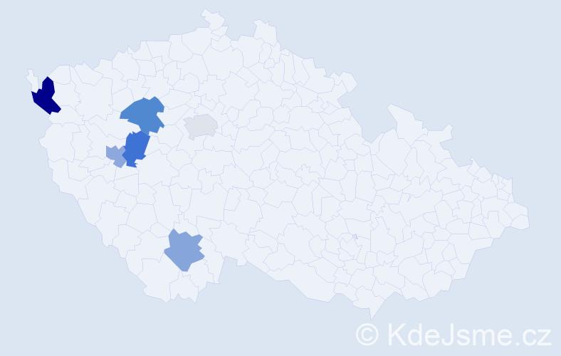 Příjmení: 'Ernat', počet výskytů 7 v celé ČR