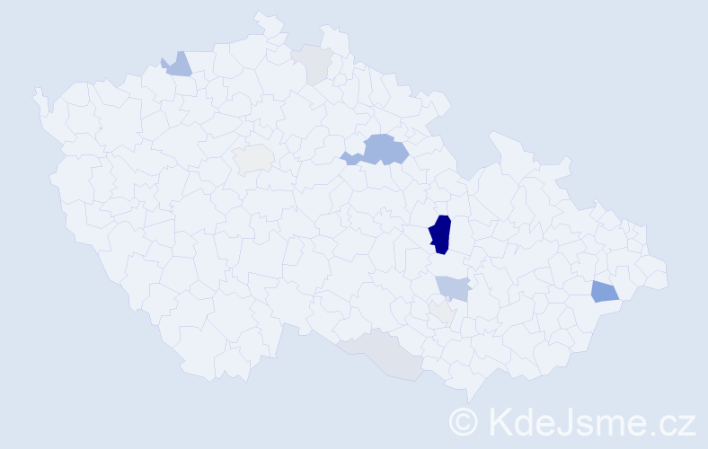 Příjmení: 'Cerháková', počet výskytů 29 v celé ČR
