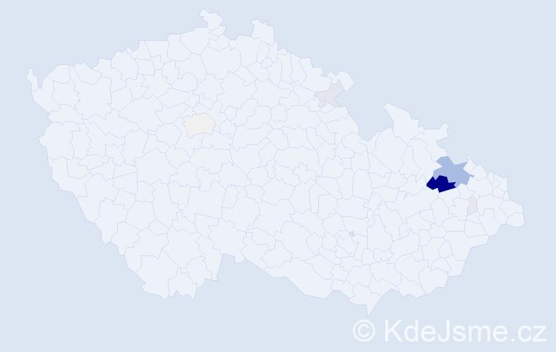 Příjmení: 'Gintar', počet výskytů 34 v celé ČR