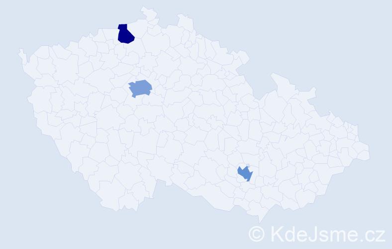 Příjmení: 'Angelidis', počet výskytů 4 v celé ČR