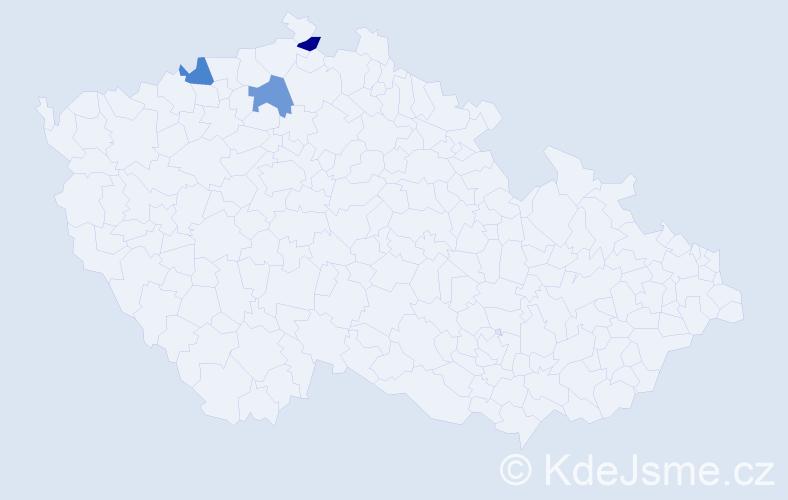 Příjmení: 'Grobauerová', počet výskytů 3 v celé ČR