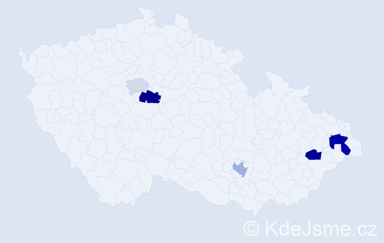 Příjmení: 'Krus', počet výskytů 19 v celé ČR