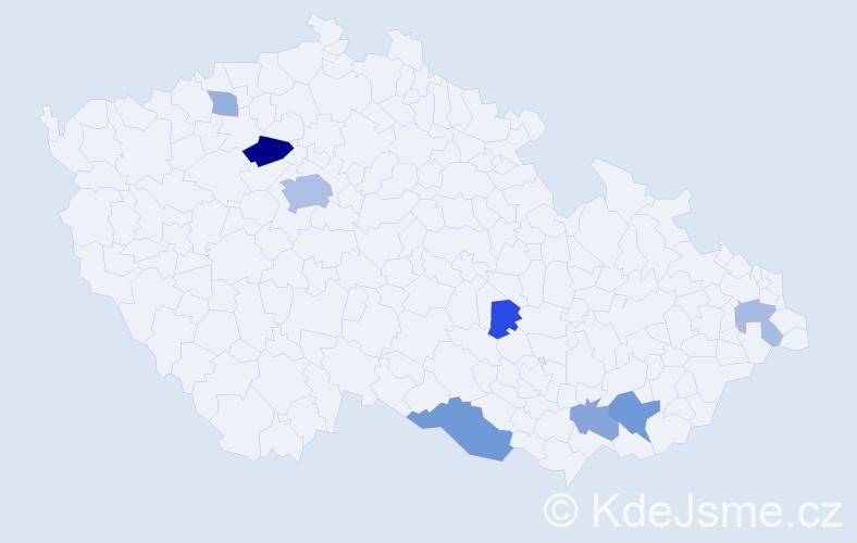 Příjmení: 'Jančuška', počet výskytů 18 v celé ČR