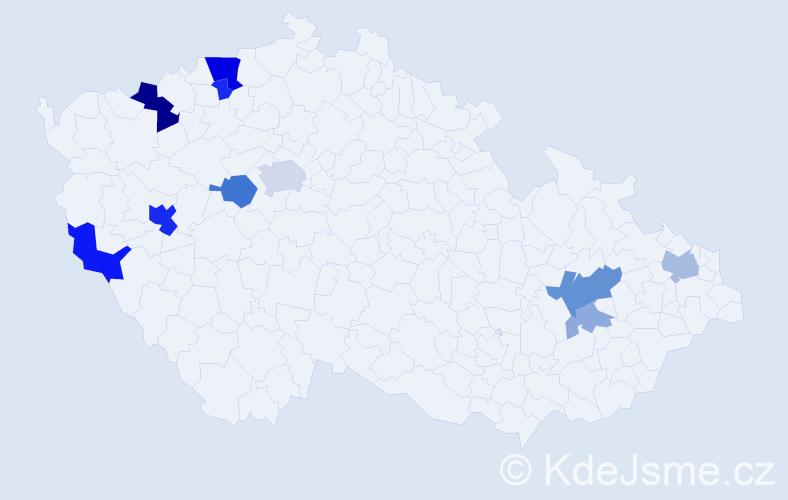 Příjmení: 'Buchbauer', počet výskytů 28 v celé ČR