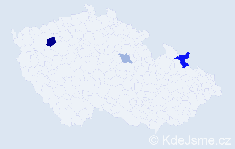 Příjmení: 'Lanyiová', počet výskytů 4 v celé ČR