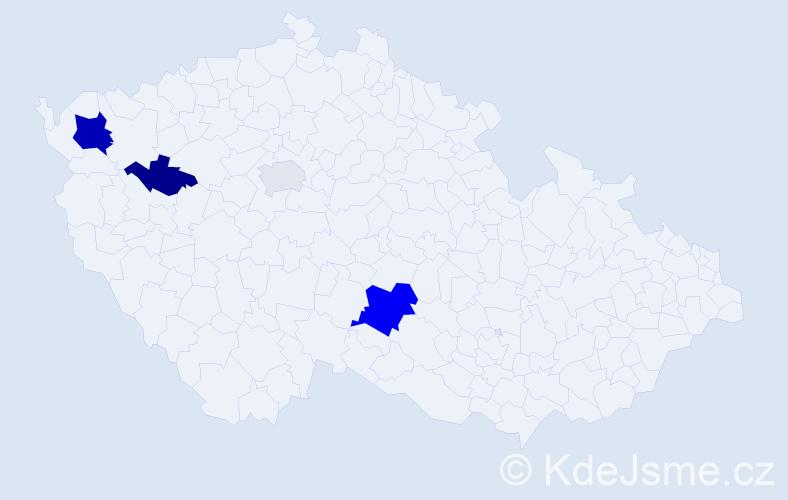 Příjmení: 'Černová', počet výskytů 8 v celé ČR