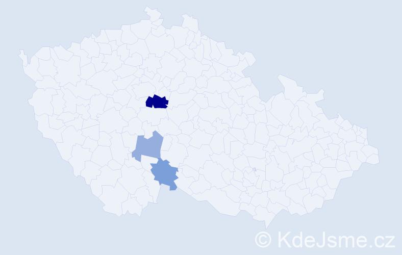 Příjmení: 'Batók', počet výskytů 6 v celé ČR