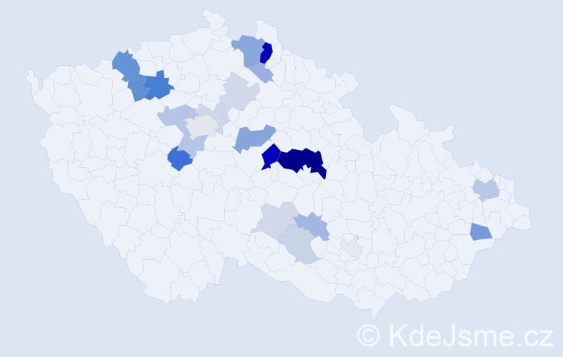 Příjmení: 'Cyprián', počet výskytů 66 v celé ČR