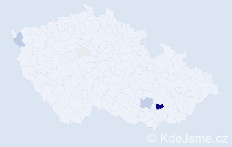 Příjmení: 'Blaňka', počet výskytů 11 v celé ČR