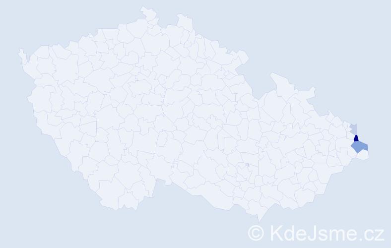 Příjmení: 'Gańczarczyk', počet výskytů 7 v celé ČR