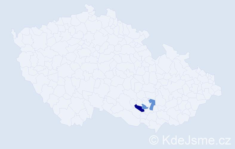 Příjmení: 'Janhuber', počet výskytů 4 v celé ČR