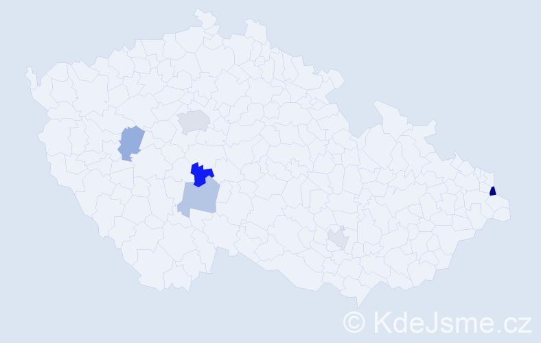 Příjmení: 'Babiarová', počet výskytů 10 v celé ČR