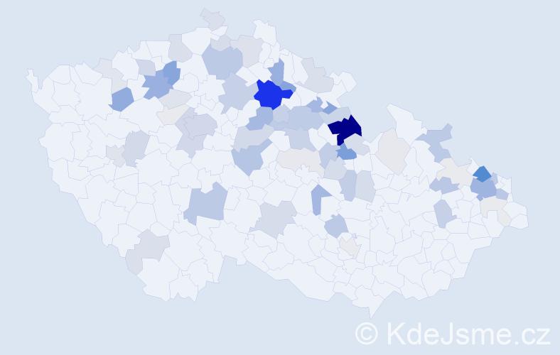 Příjmení: 'Kotlář', počet výskytů 232 v celé ČR