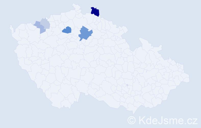 Příjmení: 'Bufák', počet výskytů 23 v celé ČR