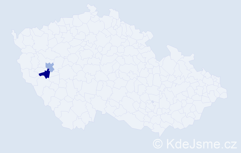Příjmení: 'Kajl', počet výskytů 2 v celé ČR