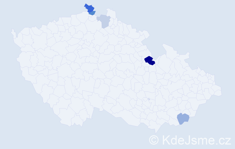 Příjmení: 'Kotian', počet výskytů 8 v celé ČR