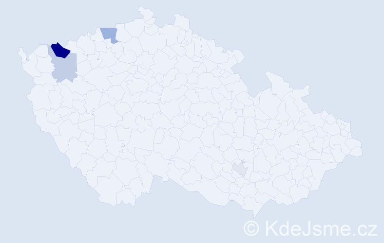 Příjmení: 'Höhnlová', počet výskytů 8 v celé ČR