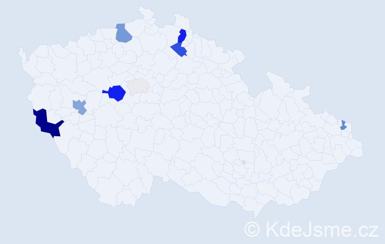 Příjmení: 'Küfner', počet výskytů 23 v celé ČR