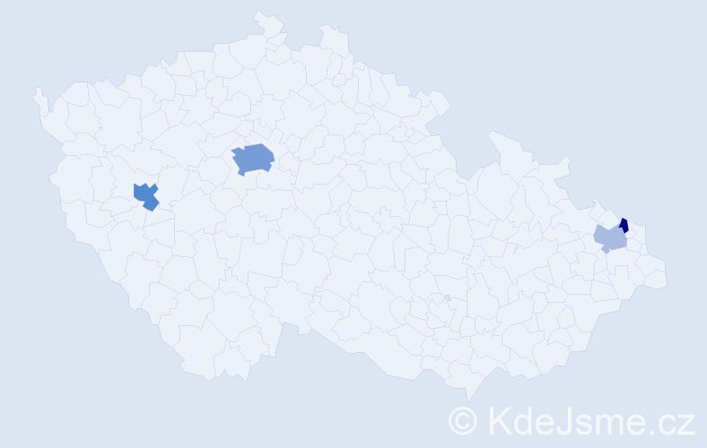 Příjmení: 'Kalika', počet výskytů 11 v celé ČR
