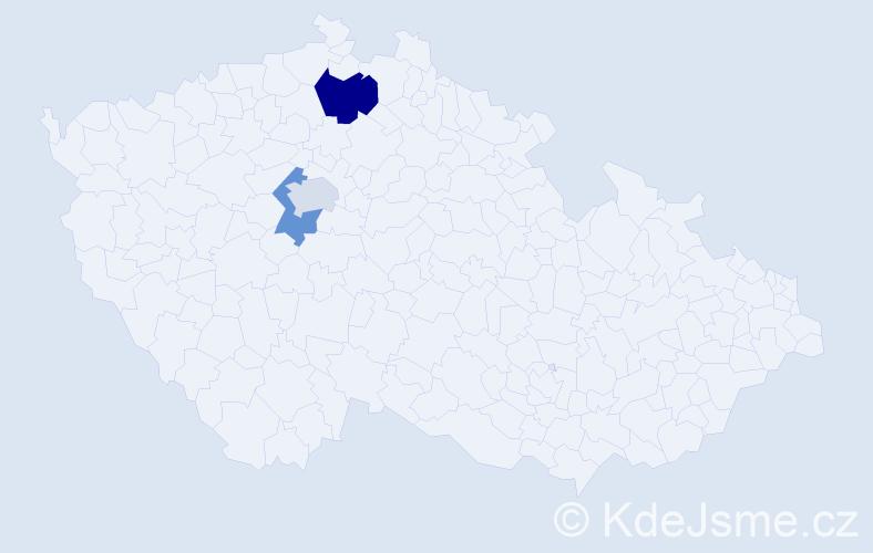 Příjmení: 'Hekš', počet výskytů 4 v celé ČR