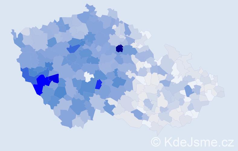Příjmení: 'Kohout', počet výskytů 3861 v celé ČR