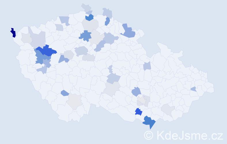 Příjmení: 'Görner', počet výskytů 120 v celé ČR