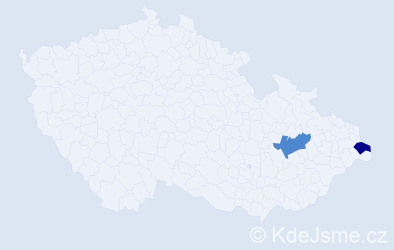 Příjmení: 'Compľová', počet výskytů 2 v celé ČR
