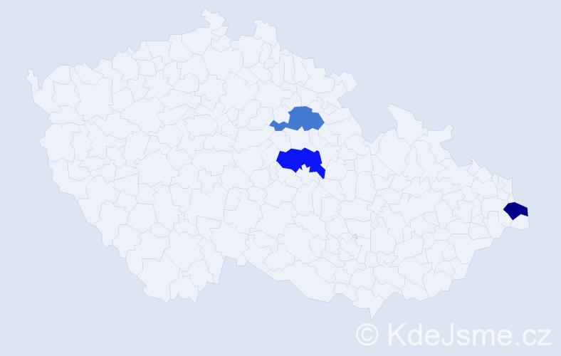 Příjmení: 'Finrašková', počet výskytů 3 v celé ČR