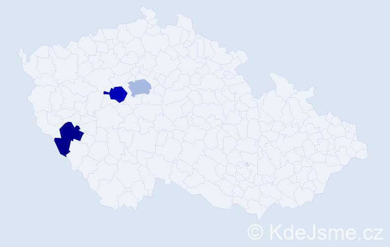 Příjmení: 'Carrington', počet výskytů 4 v celé ČR