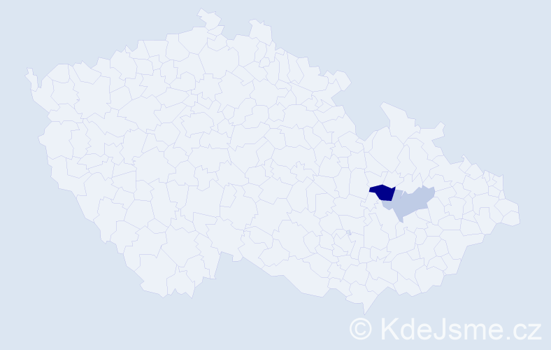 Příjmení: 'Gon', počet výskytů 3 v celé ČR