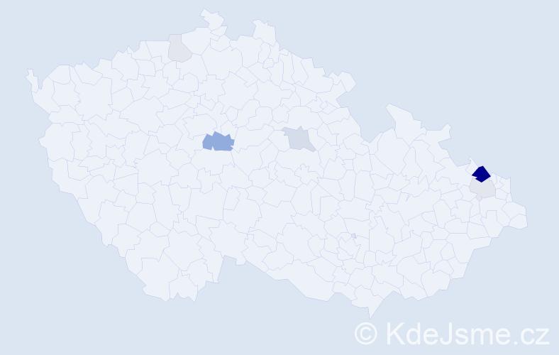 Příjmení: 'Ender', počet výskytů 24 v celé ČR
