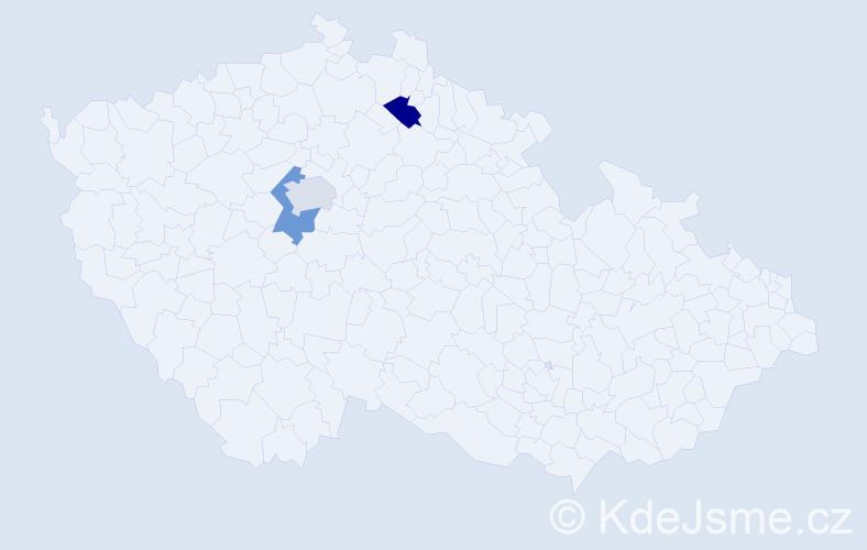Příjmení: 'Ainová', počet výskytů 3 v celé ČR