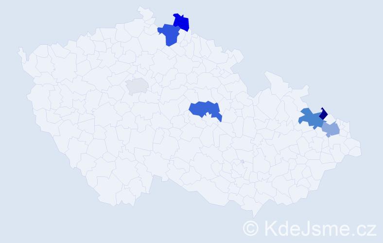 Příjmení: 'Gdulová', počet výskytů 12 v celé ČR