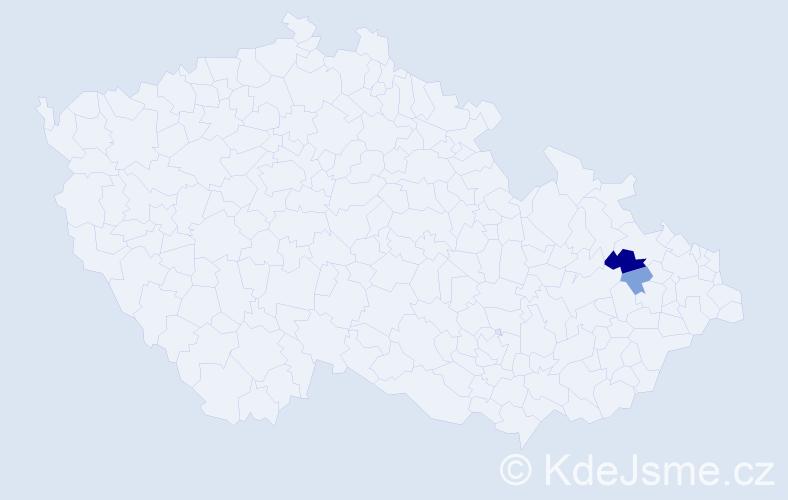 Příjmení: 'Lamatschek', počet výskytů 4 v celé ČR