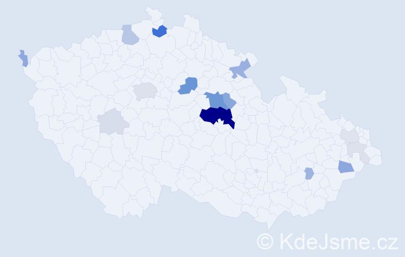Příjmení: 'Elich', počet výskytů 59 v celé ČR