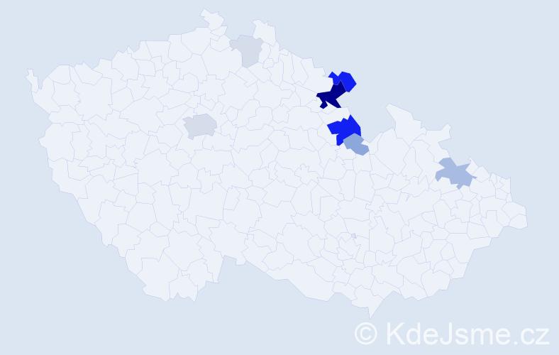Příjmení: 'Aulich', počet výskytů 26 v celé ČR